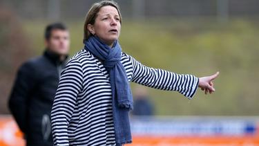 Inka Grings steht bald beim SV Straelen in der Regionalliga West an der Seitenlinie