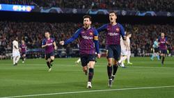Lionel Messi und Coutinho schossen den FC Barcelona ins Halbfinale der Champions League