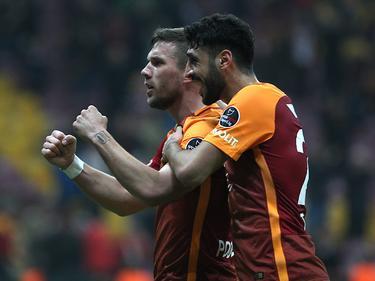 Lukas Podolski erzielte die Führung für Galatasaray
