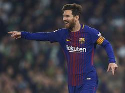 Freute sich über seinen Freistoß-Treffer: Messi