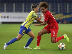 Die SKN-Frauen hatten gegen Twente das Nachsehen