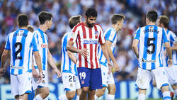 Diego Costa no tuvo su día ante la defensa donostiarra.