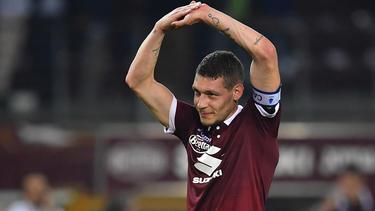 Andrea Belotti con la camiseta del Torino.
