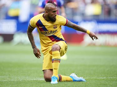Vidal en un lance del juego en Ipurua contra el Eibar.