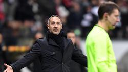 Mit Frankfurt auf Talfahrt: Eintracht-Coach Adi Hütter
