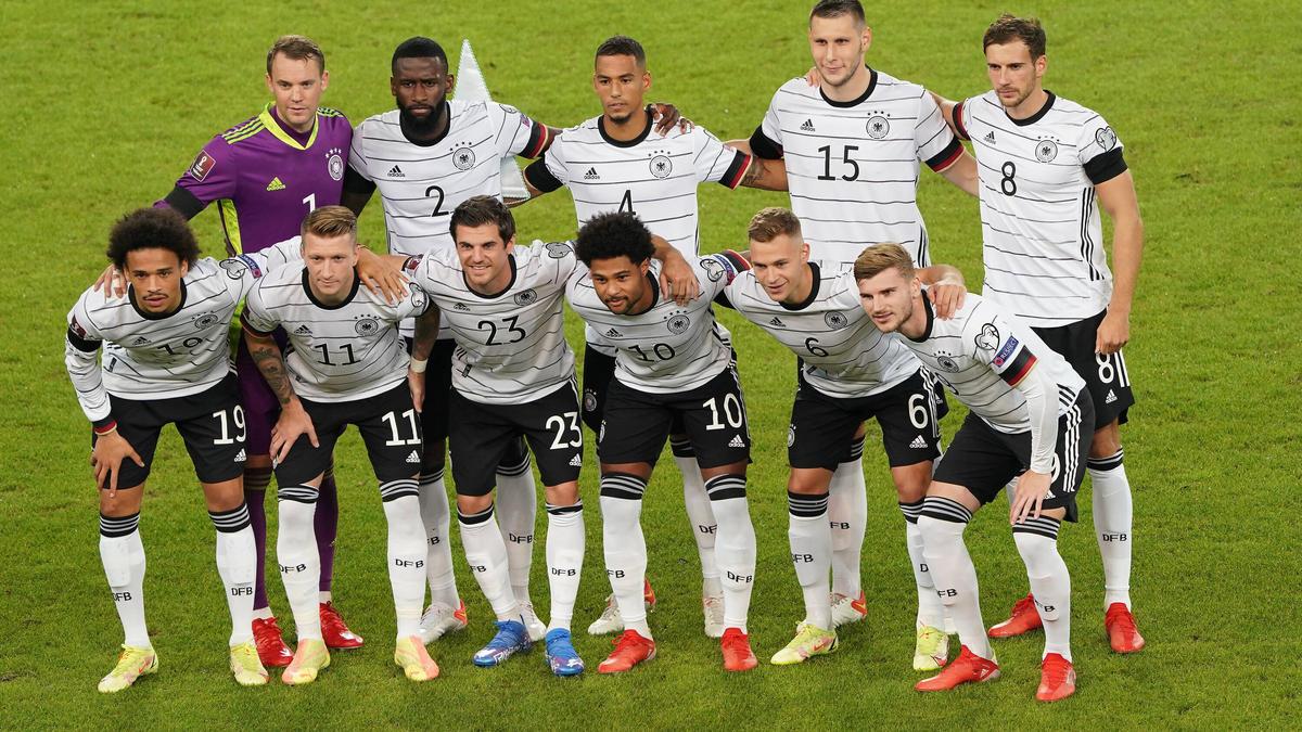 Neuer, Süle, Goretzka, Sané, Gnabry, Kimmich: der FC Bayern stellt hier mehr als das halbe DFB-Team