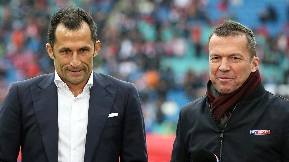 Bayern-Sportdirektor Hasan Salihamidzic (l.) und Lothar Matthäus