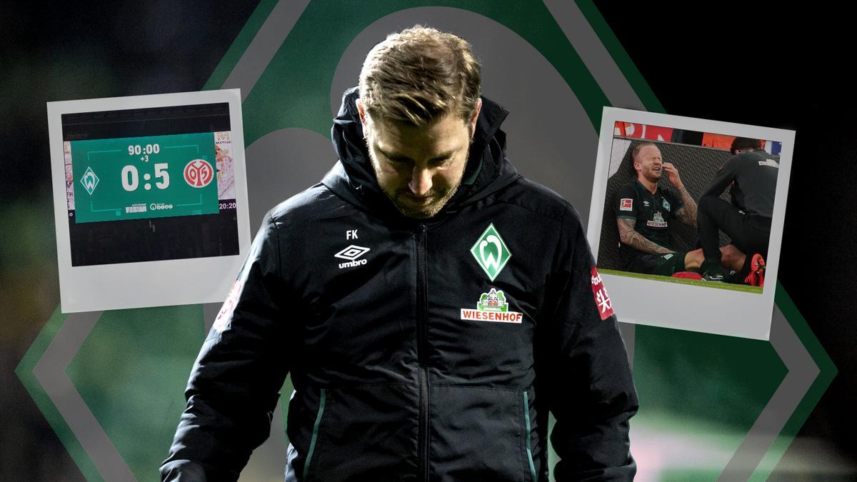Florian Kohfeldt steckt mit Werder Bremen tief im Abstiegskampf