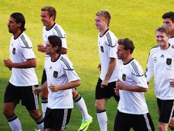 Gute Laune im Training vor Türkei-Spiel