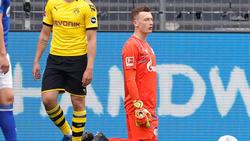 Schalke-Keeper Markus Schubert sah beim Spiel gegen den BVB nicht gut aus