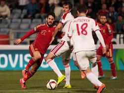 Isco brachte die Spanier gegen Weißrussland mit 1:0 in Führung