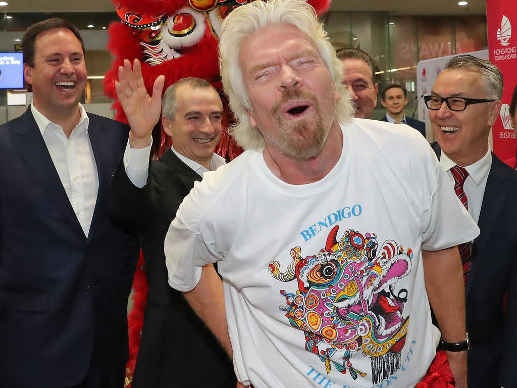 Richard Branson unterlief beim Grand Prix von Australien 2009 ein Fauxpas