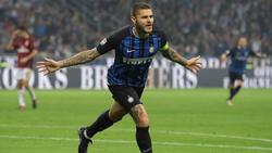 Mauro Icardi hat Inter Mailand zum Derbysieg geköpft