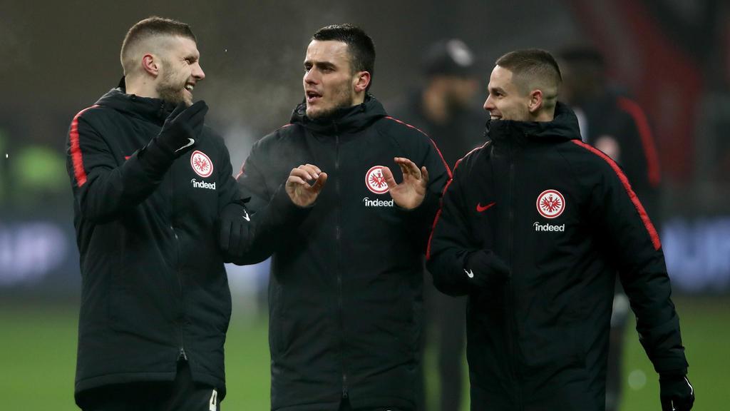 Filip Kostic (M.) erzielte für Eintracht Frankfurt einen Treffer