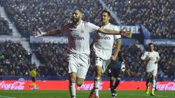 Karim Benzema verwandelte einen Elfmeter