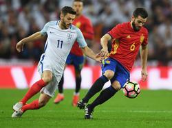 Lallana en el último duelo amistoso contra España. (Foto: Getty)