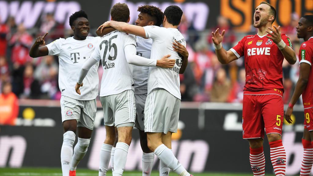 Der FC Bayern überrannte den 1. FC Köln in der ersten Halbzeit