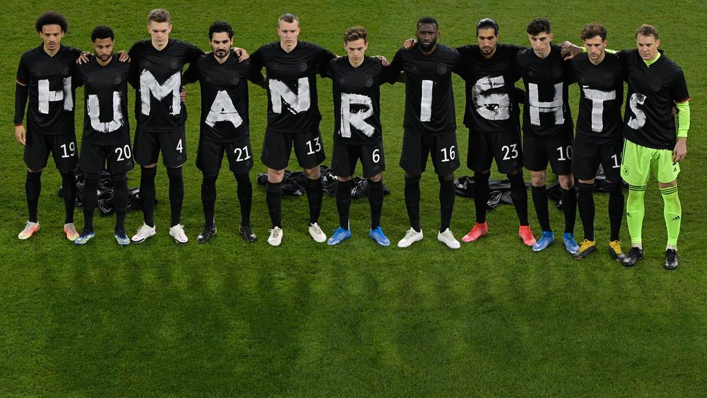 Foto reciente de la reivindicación de la selección alemana.