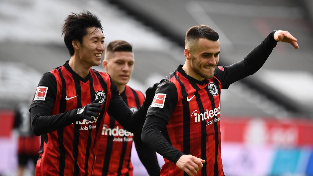 Daichi Kamada (l.) könnte Eintracht Frankfurt im Sommer verlassen