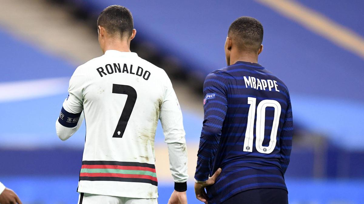 Bald vereint in einem Team? Cristiano Ronaldo (l.) und Kylian Mbappé