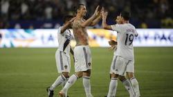 Mal wieder Mann des Spiels: Ibrahimovic (Mitte)
