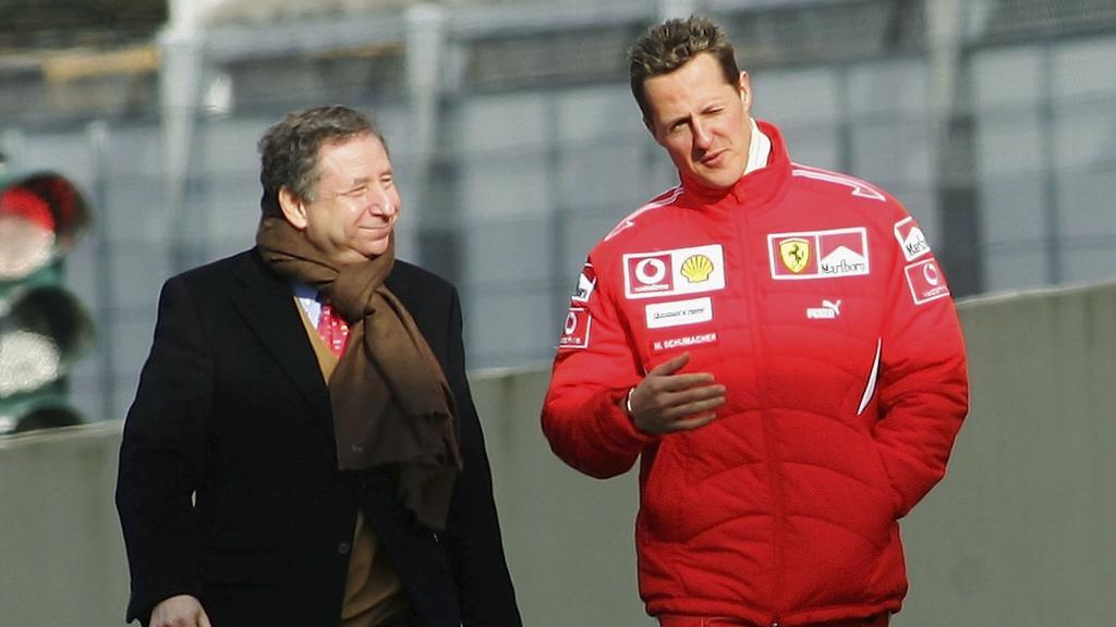 Jean Todt (l.) und Michael Schumacher arbeiteten jahrelang erfolgreich zusammen