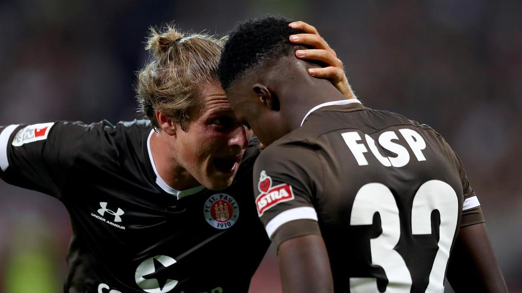Der FC St. Pauli setzte sich gegen Holstein Kiel durch