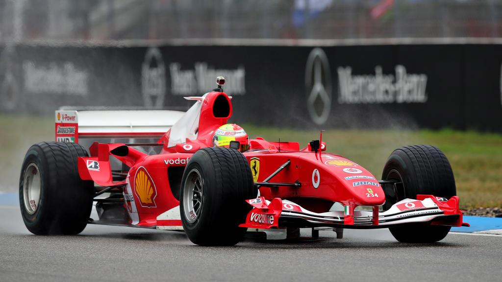 Mick Schumacher ist im Weltmeister-Wagen seines Vaters gefahren