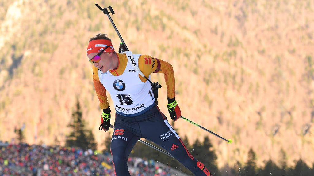 Benedikt Doll sprintete in Ruhpolding auf Rang drei