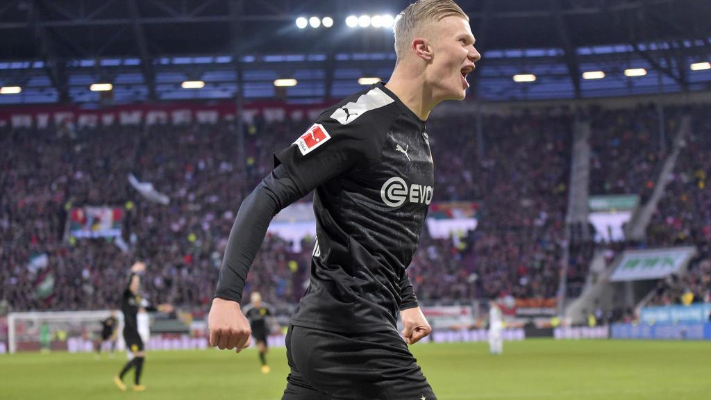 Debüt nach Maß: BVB-Neuzugang Erling Haaland schnürte in Augsburg einen Dreierpack