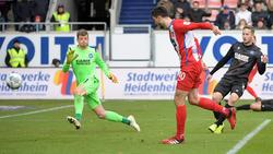 Tim Kleindienst war an allen drei Treffern des 1. FC Heidenheim beteiligt