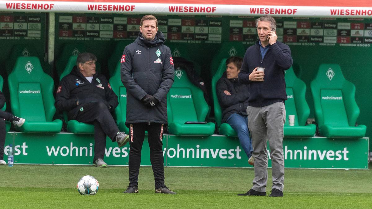 Florian Kohfeldt erhielt Rückendeckung von Frank Baumann