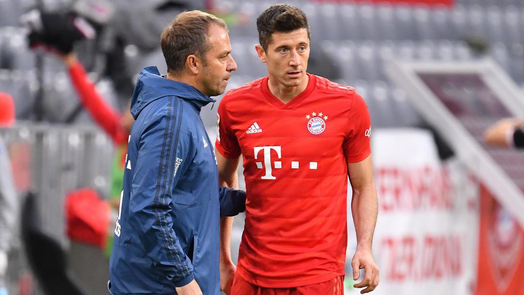 Hansi Flick und Robert Lewandowski eilen mit dem FC Bayern von Sieg zu Sieg
