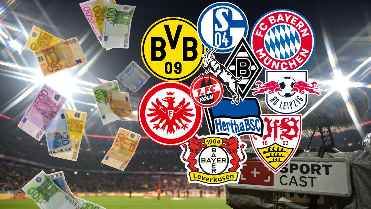 TV-Gelder 20/21: Das kassieren FC Bayern, BVB und Co.
