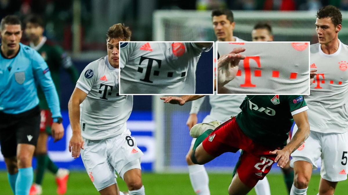 Trikotpanne beim FC Bayern: Kimmich trug einen andersfarbigen Schriftzug als die Kollegen