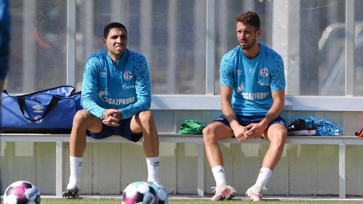 Omar Mascarell und Mark Uth (r.) sollen den FC Schalke aus der Krise führen