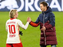 Bei RB Leipzig ist man nach dem zehnten Saisonsieg zufrieden