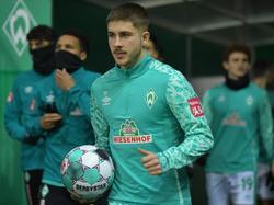 Werder-Trainer Florian Kohfeldt baut auf Romano Schmid