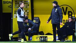 BVB-Kapitän Marco Reus (l.) musste auf die Ersatzbank