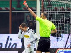 Erster Platzverweis in der Serie A