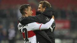 Beim VfB lagen sie sich nach dem Sieg in den Armen
