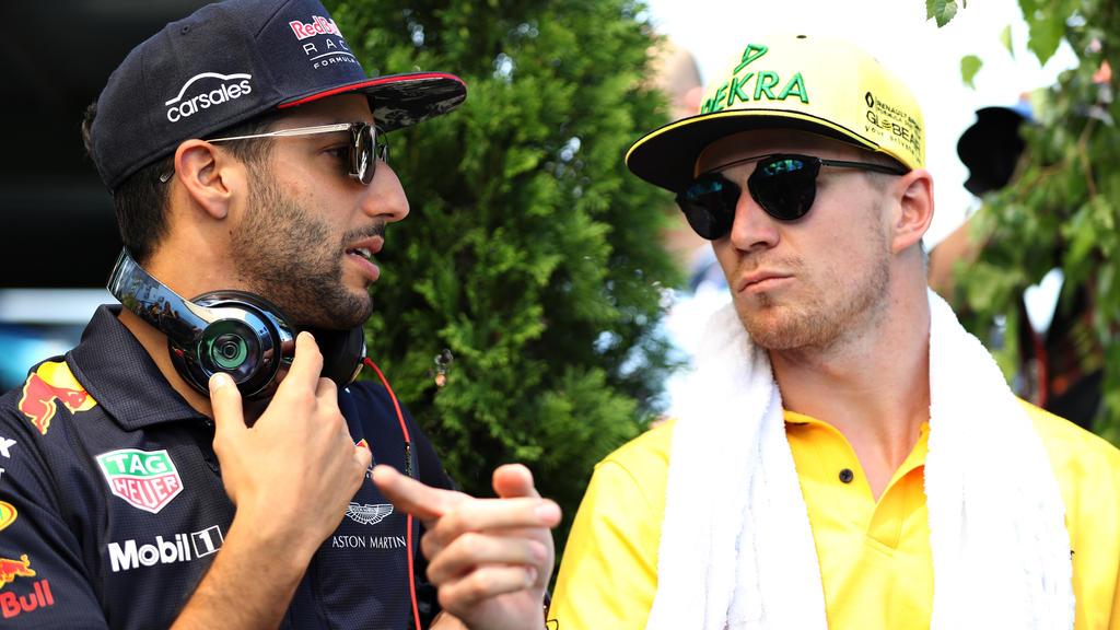 Nico Hülkenberg (r.) sieht das Stallduell mit Daniel Ricciardo gelassen