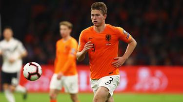Matthijs De Ligt con la camiseta holandesa.