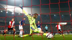 De Gea encaja un tanto ante el Feyenoord en 2016.