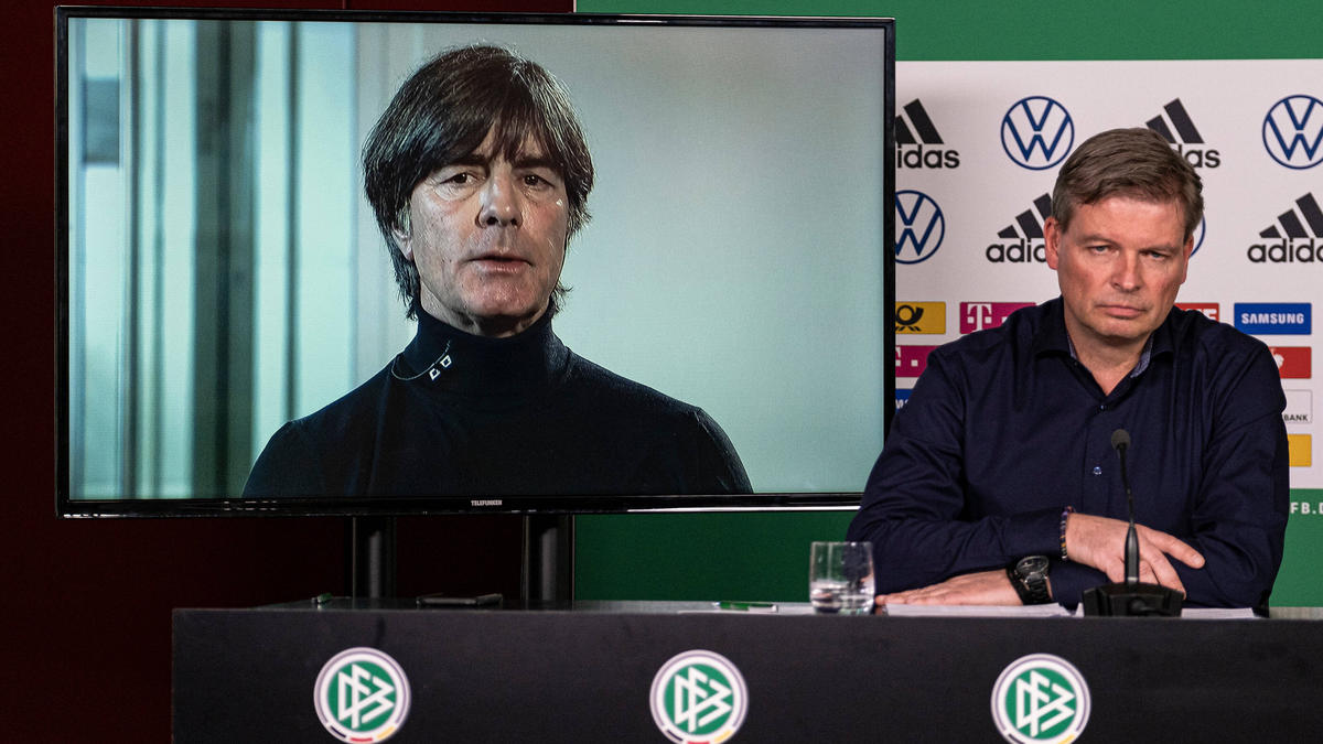 Joachim Löw wurde am Mittwoch per Videochat zugeschaltet