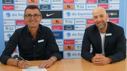 1860 München verlängert mit Michael Köllner (l.)