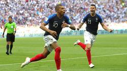 Frankreichs Kylian Mbappé drehte im Achtelfinale gegen Argentinien mächtig auf