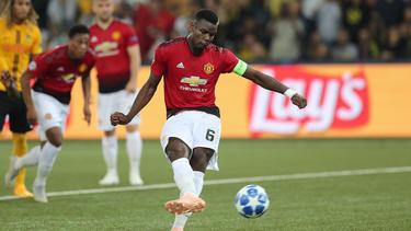 Paul Pogba übte vertretungsweise das Kapitänsamt bei Manchester United aus