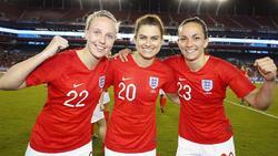 Triumph für die englischen Damen (Bildquelle:https://twitter.com/Lionesses)