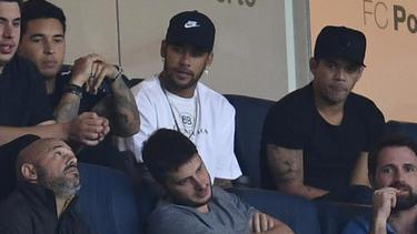 Neymar sah das 1:1 der Brasilianer gegen Panama von der Tribüne aus